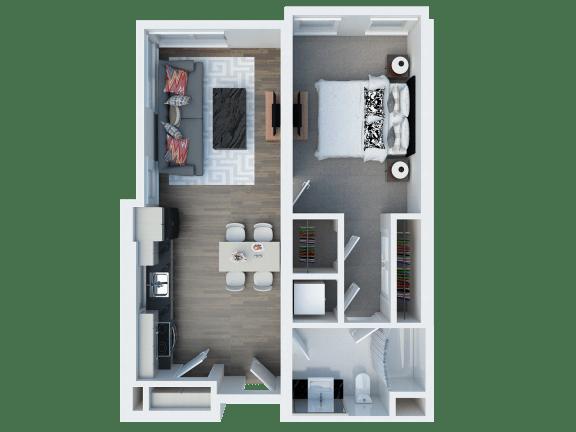 A13 Floor Plan l Coliseum Connection Apartments in Oakland, CA