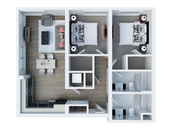 B11 Floor Plan l Coliseum Connection Apartments in Oakland, CA
