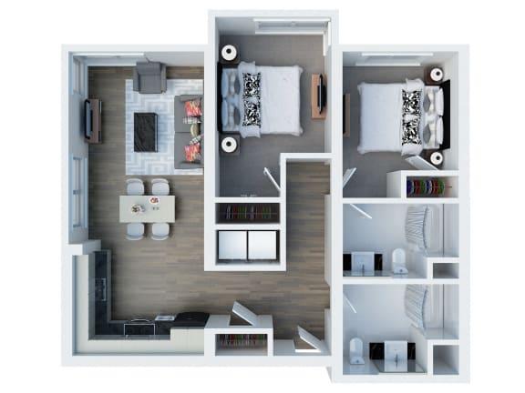 B12 Floor Plan l Coliseum Connection Apartments in Oakland, CA
