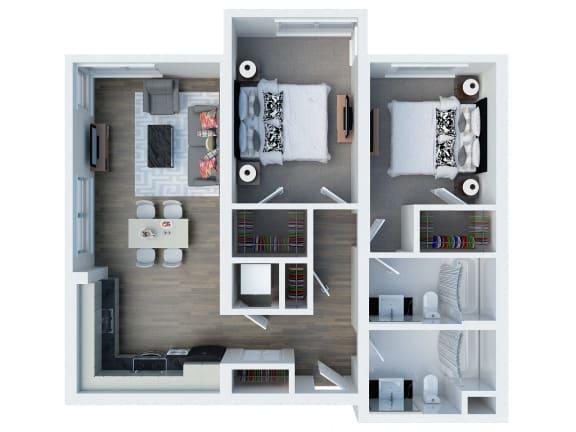 B13 Floor Planl  Coliseum Connection Apartments in Oakland, CA