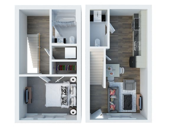 TH1  Floor Plan l Coliseum Connection Apartments in Oakland, CA