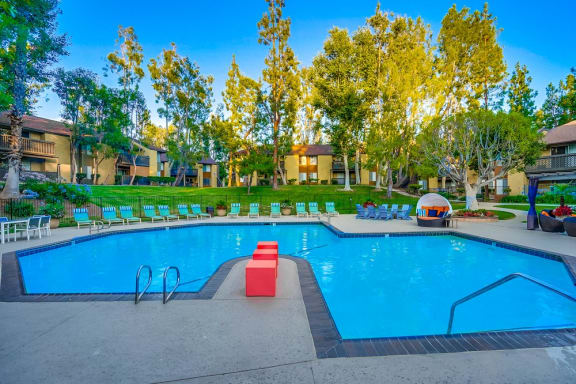 Swimming Pool With Sparkling Water at The Trails at San Dimas, 444 N. Amelia Avenue
