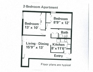 2 Bedroom Apartment at Franklin Manor in Columbus, OH