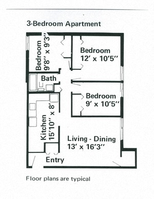 3 Bedroom Apartment at Franklin Manor in Columbus, OH