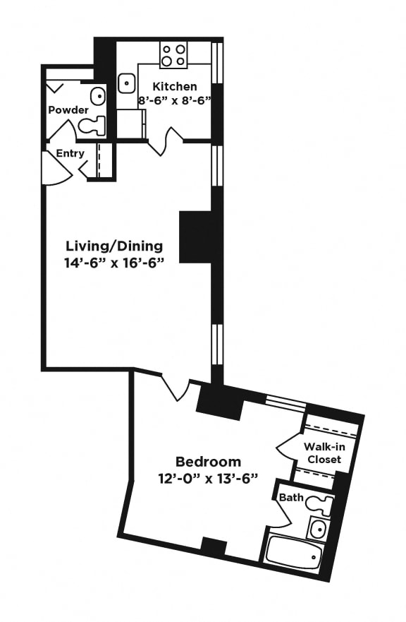 1 bedroom apartment at Webster Hall in Pittsburgh, PA