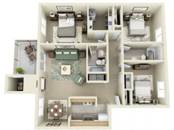 Floor Plan  Montair at Somerset Hill St Helens 3Bed/2Bath
