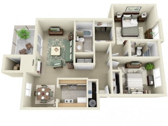 Floor Plan  Montair at Somerset Hill Rainier 2Bed/2Bath