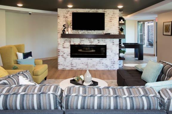 Community Living Room at Aspenwood Apartments, Eagan, 55123