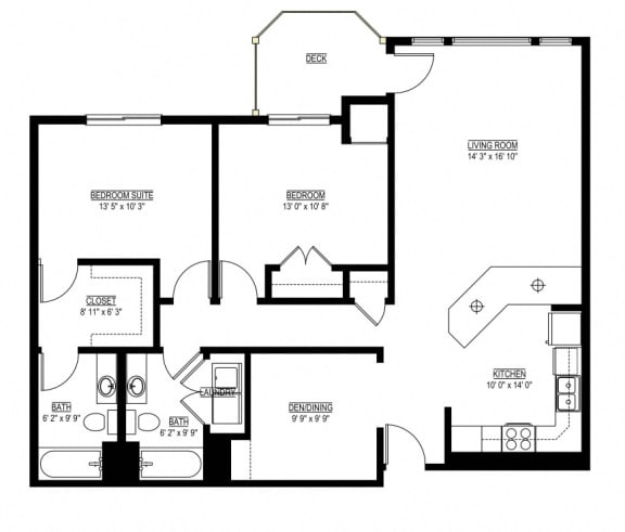 Floor Plan  Waterstone Apartments in Minnetonka, MN G The Willow