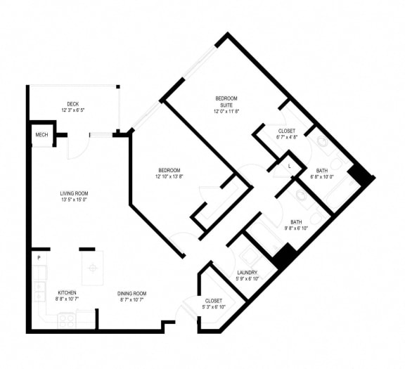 Floor Plan  Waterstone Apartments in Minnetonka, MN K The Spring