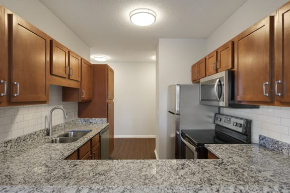 Kitchen With Energy Efficient Appliances at Waterstone Place, Minnetonka, 55305