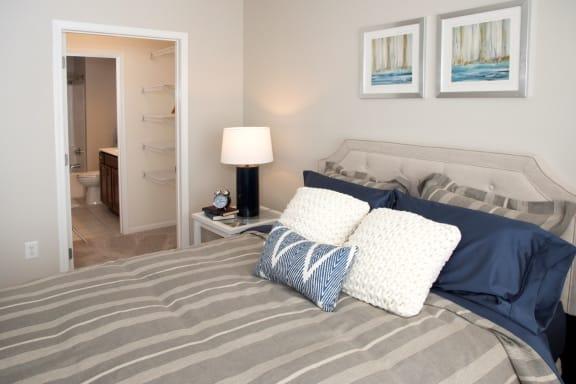 Master Bedroom With Washroom And Closet at Waterstone Place, Minnetonka, Minnesota