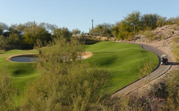 Scenic Mountain and Golf Course Views at Tucson, AZ Apartment 85718