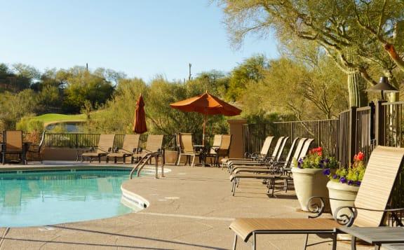Poolside Sundeck at La Paloma Tucson Apartments Near Me