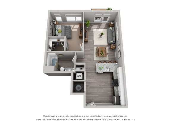 Floor Plan  CityWay Apartments in Indianapolis