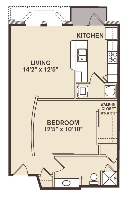 Providence At Old Meridian One bedroom apartment in Carmel Indiana