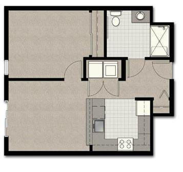 Floor Plan  One Bedroom B10 FloorPlan at The Corydon, Washington
