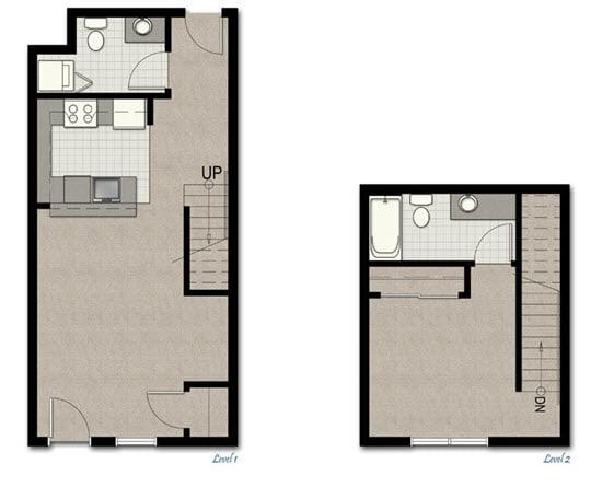 Floor Plan  Townhome TH2 FloorPlan at The Corydon, Seattle, WA, 98105