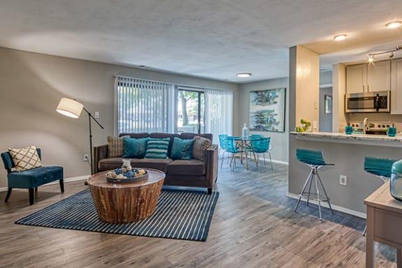 Living area at apartments in Newport News VA