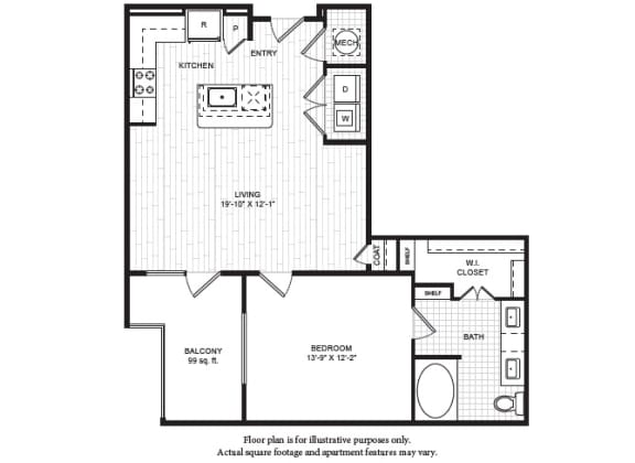 A5(1) Floor Plan at Windsor Old Fourth Ward, Georgia