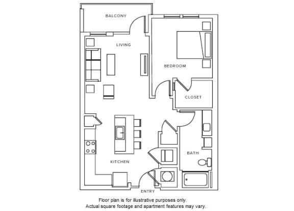 A7 floor plan at Windsor Parkview, GA, 30341
