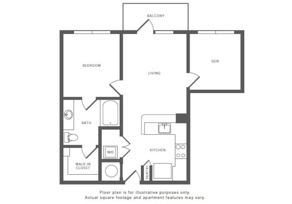 Floor Plan  1 Bed 1 Bath A6S Floor Plan at Windsor by the Galleria, Texas, 75240