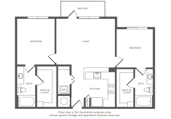 Floor Plan  2 Bed 2 Bath B1 Floor Plan at Windsor by the Galleria, Dallas, TX