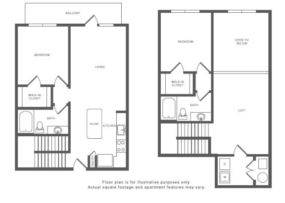 Floor Plan  2 Bed 2 Bath B6TH Floor Plan at Windsor by the Galleria, Dallas, TX