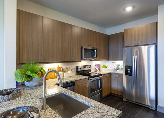 Upscale kitchen at Windsor Shepherd, Houston, TX