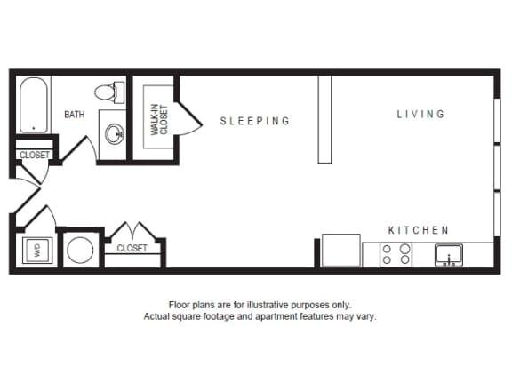 Floor Plan  S1 floor plan at Windsor Shepherd, 611 Shepherd Dr, 77007