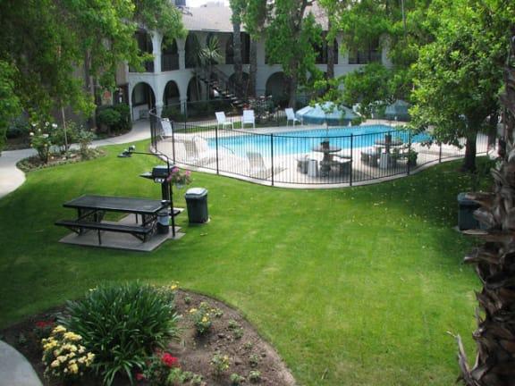 Beautiful Sparkling Clear Swimming Pool at Barcelona Apartments, Visalia, CA, 93277