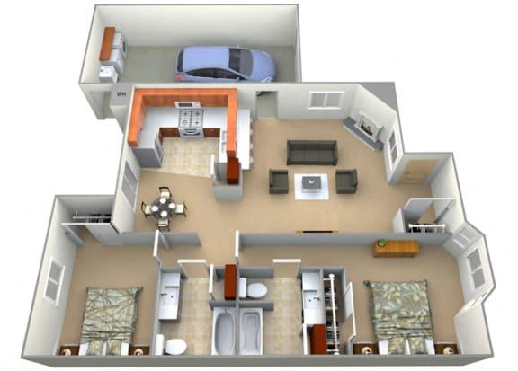 Floor Plan  Berkshire Floor Plan at Dartmouth Tower at Shaw, Clovis, CA, 93612