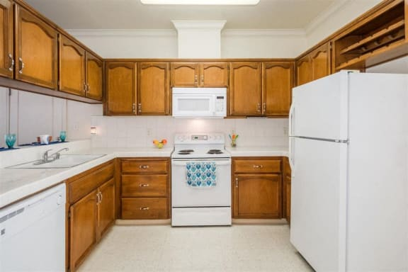 Refrigerator And Kitchen Appliances at Dartmouth Tower at Shaw, Clovis