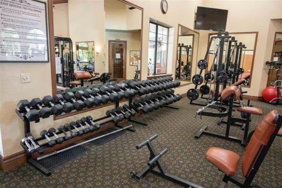 Fitness Center at Dominion Courtyard Villas, California, 93720