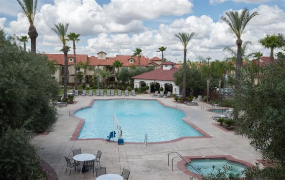 Cool Swimming Pool at Dominion Courtyard Villas, Fresno