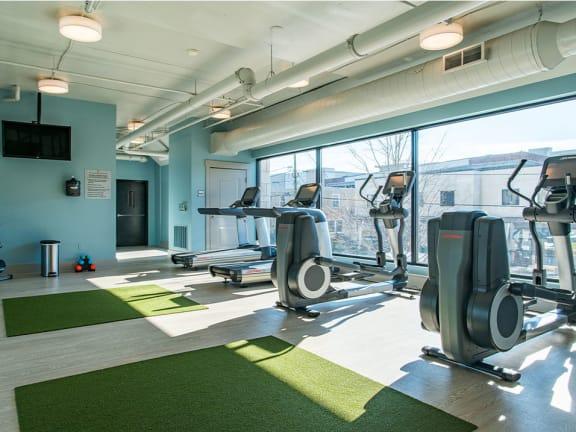 Fitness Center Cardio Equipment at St. Marys Square Apartments, North Carolina, 27605