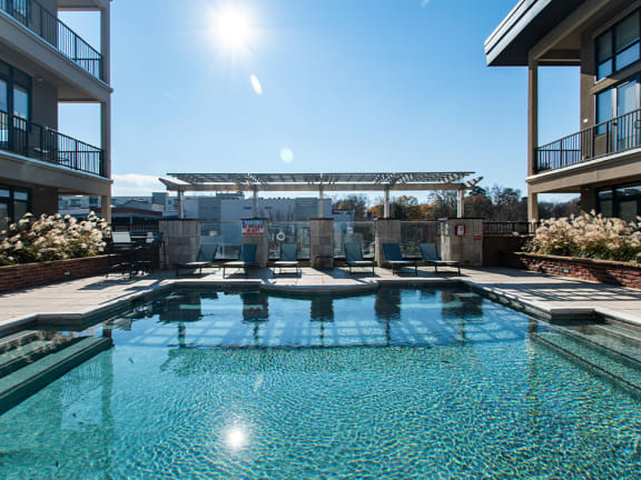 Heated & Chilled Saltwater Swimming Pool at St. Marys Square Apartments, Raleigh