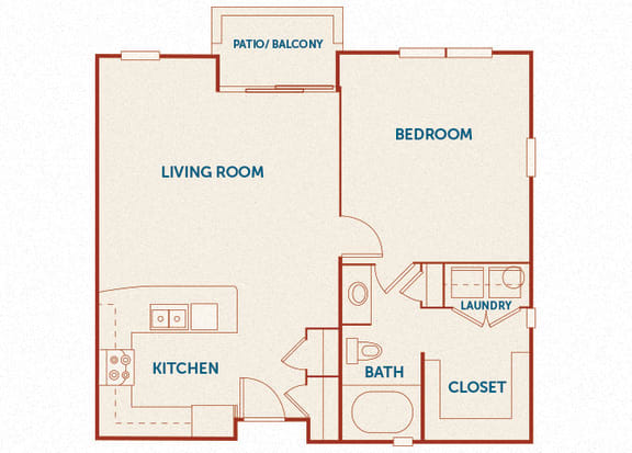 ABQ Uptown Apartments - A9 - 1 bedroom and 1 bath