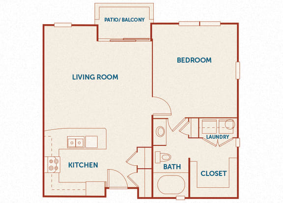ABQ Uptown Apartments - A8 - 1 bedroom and 1 bath