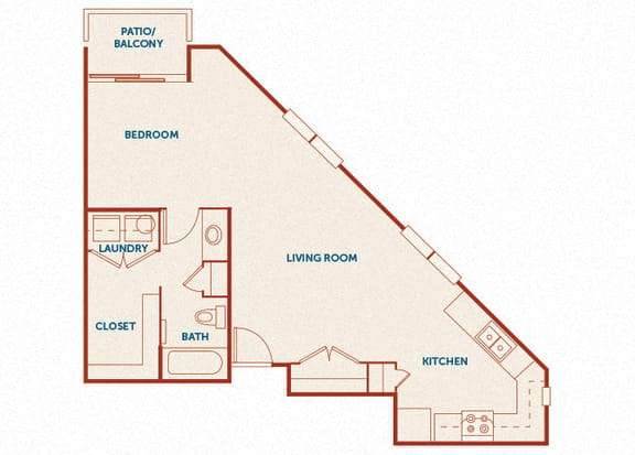 ABQ Uptown Apartments - A6 - 1 bedroom and 1 bath