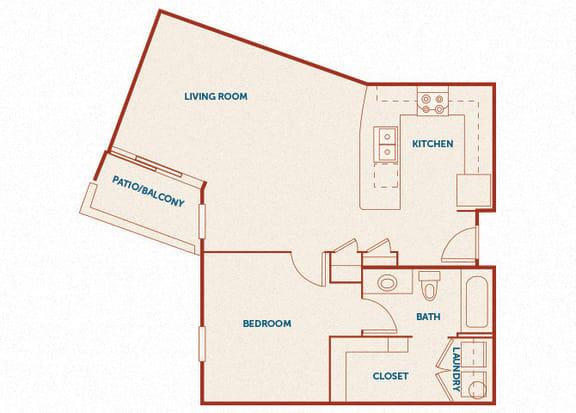 ABQ Uptown Apartments - A7 - 1 bedroom and 1 bath