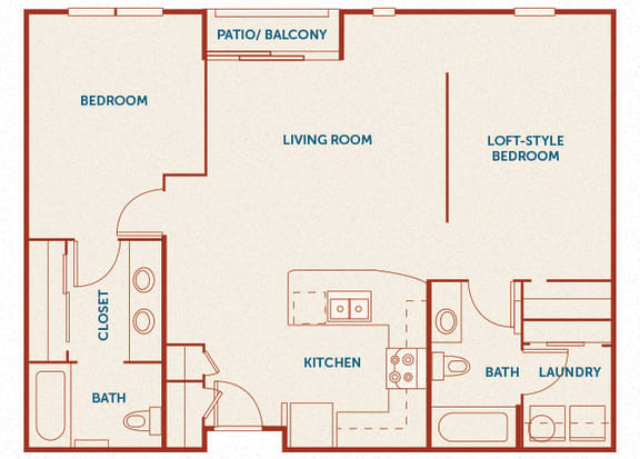ABQ Uptown Apartments - B 1-5 (1) - 2 bedroom and 2 bath