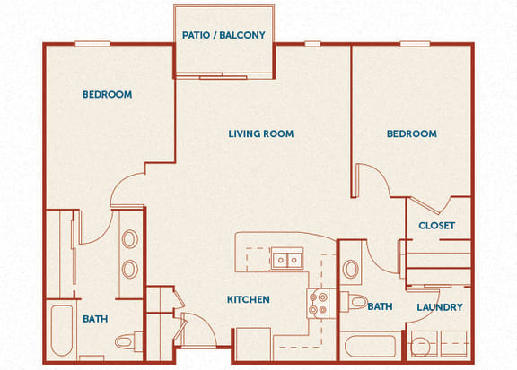 ABQ Uptown Apartments - B 1-5 (2) - 2 bedroom and 2 bath