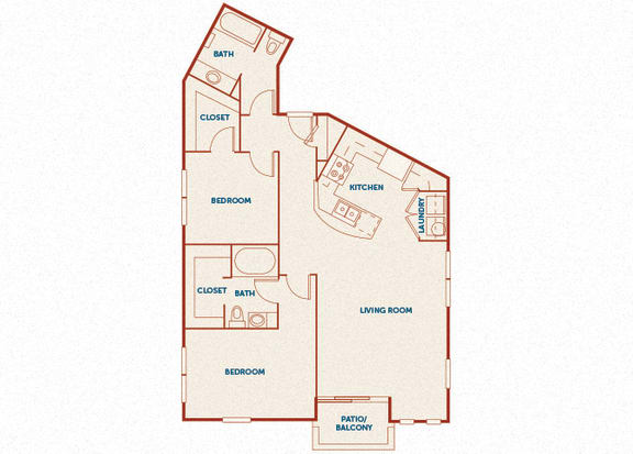 ABQ Uptown Apartments - B10 (1) - 2 bedroom and 2 bath