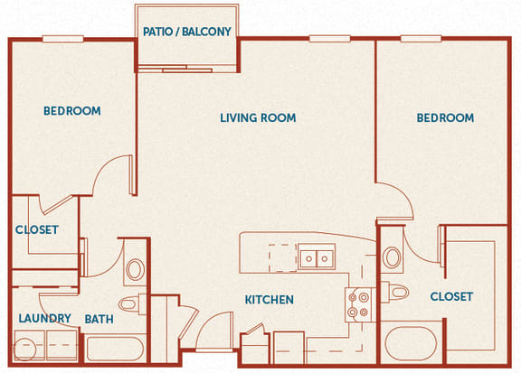 ABQ Uptown Apartments - B9 - 2 bedroom and 2 bath