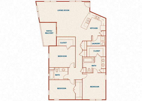 ABQ Uptown Apartments - C3 - 3 bedroom and 2 bath
