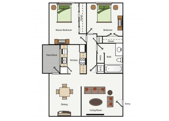 Two Bedroom One Bathroom cottage
