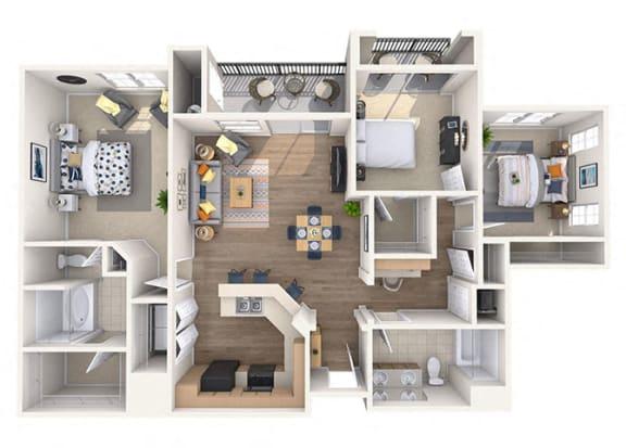 Floor Plan  Sonorah Floor Plan at Waterford at Peoria, Arizona, 85381
