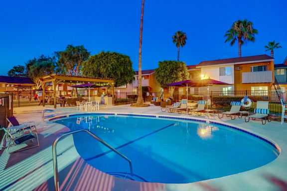 Large and Relaxing Pool at Pacific Trails Luxury Apartment Homes, Covina, CA