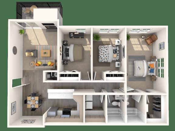 3 bedroom apartments fairfax